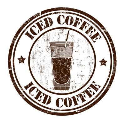 Posters Tampon de café glacé