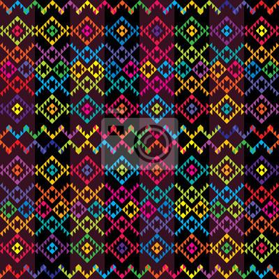 Tapis de couleur ethnique