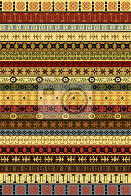 Tapis Ethnique Avec Des Motifs Africains Affiches Murales