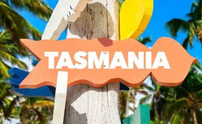 Posters Tasmanie, accueil, signe, paume, Arbres