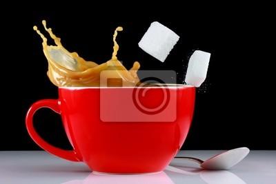 Tasse de café avec rebond sugarcube