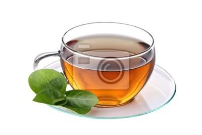 Tasse de thé, isolé sur un fond blanc.