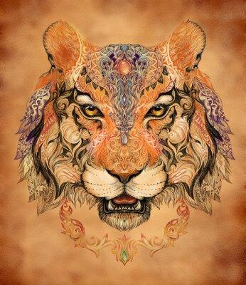 Posters Tatouage, graphiques tête d'un tigre