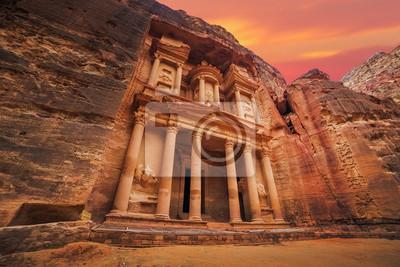 Posters Temple antique, petra, jordanie