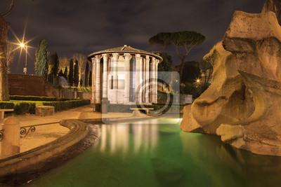 Temple of Heracles par nuit, Rome, Italie