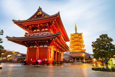 Posters Temple Senso-ji au quartier d'Asakusa à Tokyo, Japon