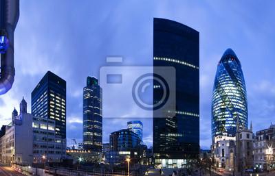 temps de tir soirée du quartier financier de l `Londres.