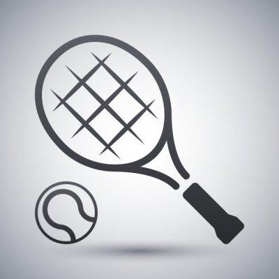 Posters Tennis, raquette, tennis, balle, vecteur, icône
