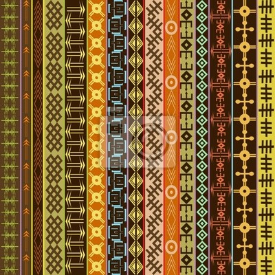 Texture avec des ornements géométriques ethniques, motif africain coloré