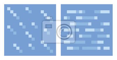Posters Texture Pour Art Vecteur Platformers De Pixel Eau Et De Glace