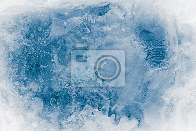 Posters Textured ice block surface background.