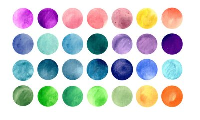 Posters textures de cercle Aquarelle.