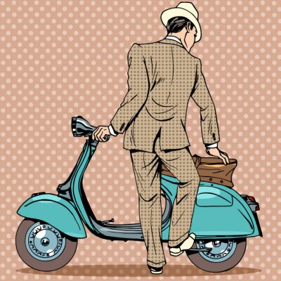 Posters The man gets a scooter