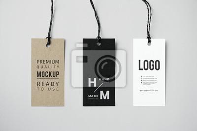 Posters Three fashion label tag mockups