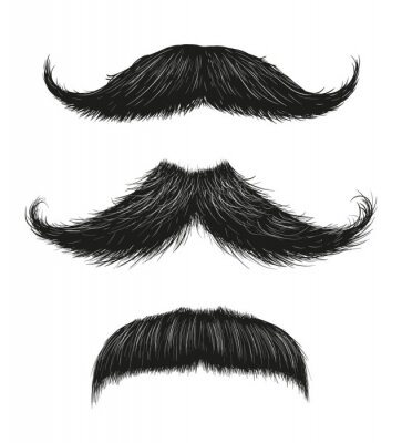 Posters Three Mustache Set