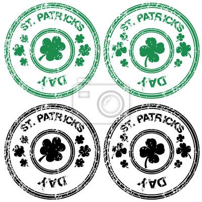 Timbres noir et vert pour la Saint Patrick