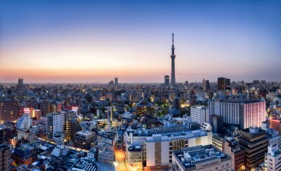 Posters Tokyo horizon avec Skytree