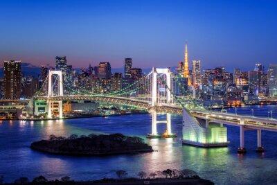 Posters Tokyo Rainbow Bridge und Tokyo Tower