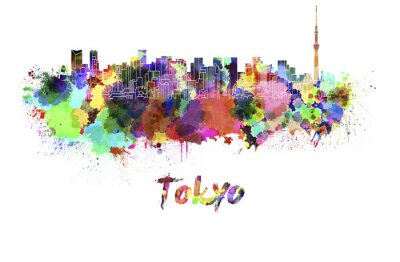 Posters Tokyo, V2, Horizon, aquarelle