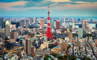 Posters Tokyo vue sur la ville à l'horizon