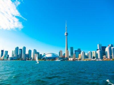 Posters Toronto toits de la ville depuis le ferry se déplace pour centrer île