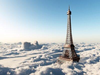 Posters Tour Eiffel-dessus des nuages