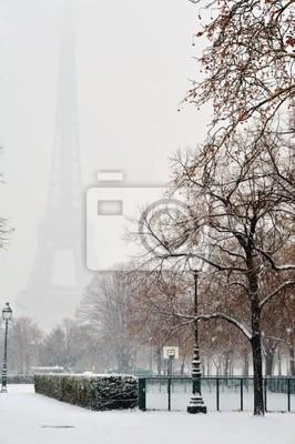 Tour eiffel sous la neige