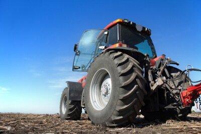 Posters Tracteur, fonctionnement, champ, ensoleillé, jour