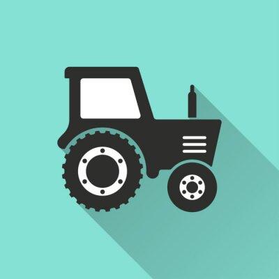Posters Tracteur - icône de vecteur.