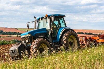 Posters Tracteur sur le terrain