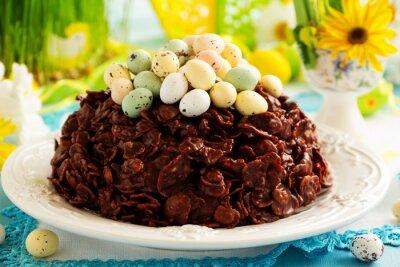 Posters Traditionnel, Pâques, gâteau, chocolat, chocolat, oeufs