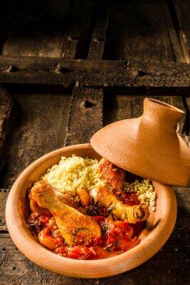 Posters Traditionnel, tajine, plat, poulet, couscous