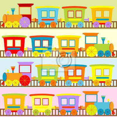 trains Cartoon horizons pour les enfants