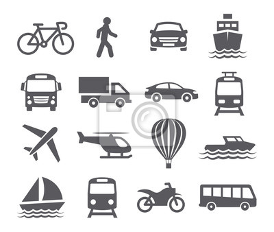 Posters Transport icons