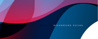 Posters Trendy simple fluid color gradient abstract background with dynamic wave line effect. Vector Illustration For Wallpaper, Banner, Background, Card, Book Illustration, landing page