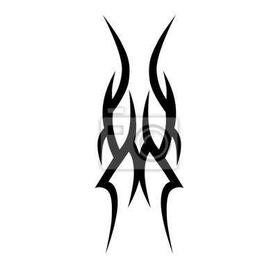 Tribal Tattoo Art Conceptions Esquisse Vecteur Isole Simple Affiches Murales Posters Avant Bras Douille Epaule Myloview Fr