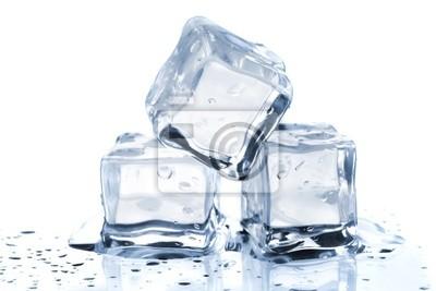 Posters Trois cubes de glace fondante