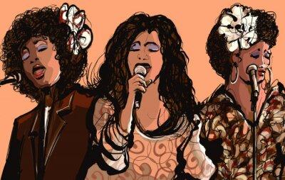 Posters Trois, femme, jazz, chanteurs