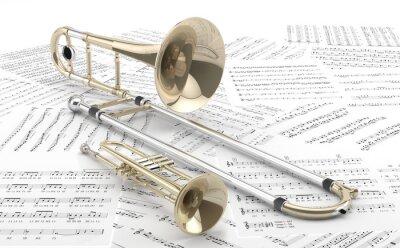 Posters Trombon Trompeta y sobre partituras 2