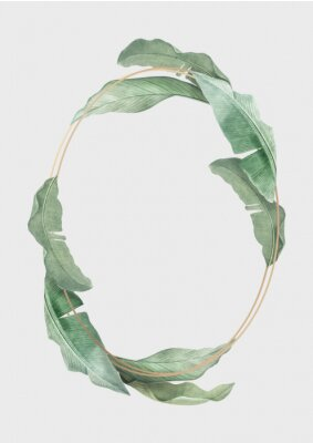 Posters Tropical leaves frame