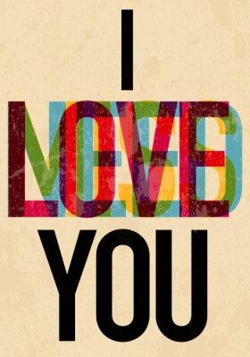 Posters Type jour le texte de Valentine calligraphique