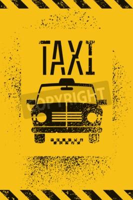 Posters Typographique, graffiti, retro, grunge, taxi, affiche. Illustration vectorielle.
