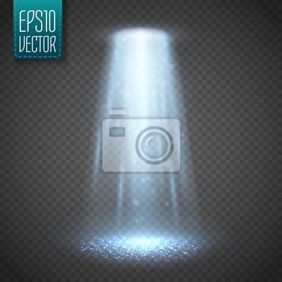 Posters UFO, lumière, faisceau, isolé, transparent, fond. Vecteur