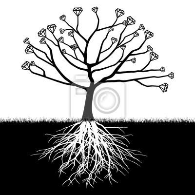 Posters Un arbre avec des diamants