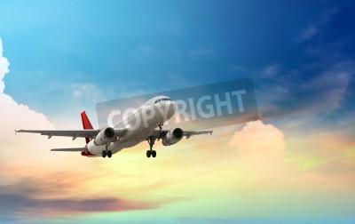 Posters un avion qui décolle