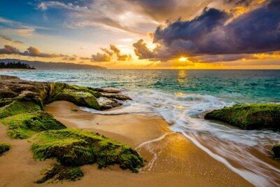Posters Un beau coucher de soleil hawaïen