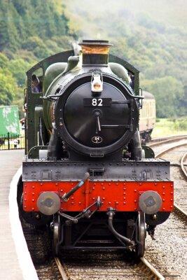 Posters Un train de vapeur arrive à la station