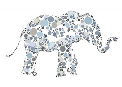 Posters Une illustration créative d'un éléphant