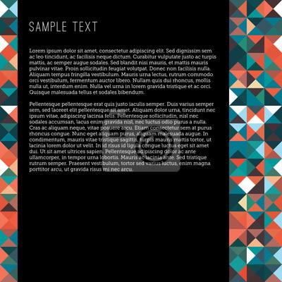 Posters Une Mise En Page Vierge Dans Un Style Dart De Pixel