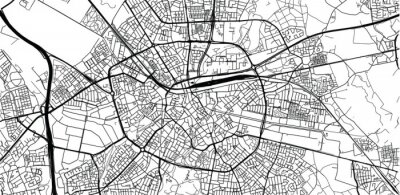 Posters Urban vector city map of Eindhoven, The Netherlands
